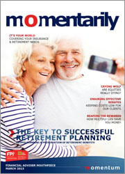Momentarily March 2013 cover